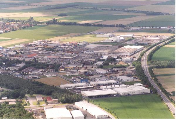 Luftaufnahme Gewerbegebiet Niederheid