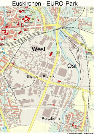 Straßenplan EURO-Park