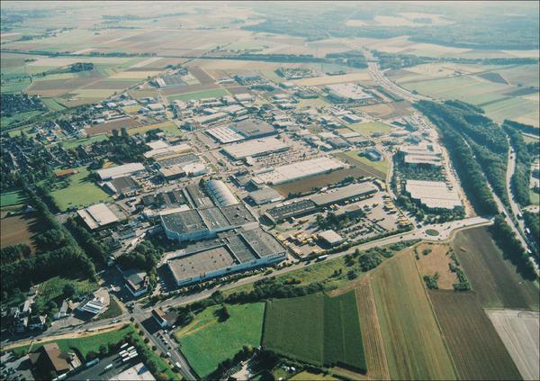 Luftbildaufnahme Gewerbegebiet Aachener Kreuz